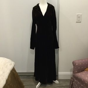 DEMA silk stretch velvet dress